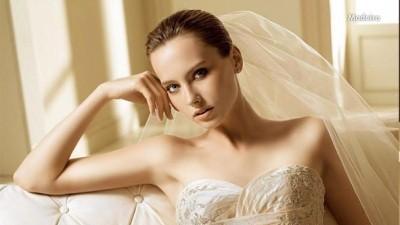Suknia slubna firmy LA SPOSA, model MADEIRA, rozm. 36, ecru