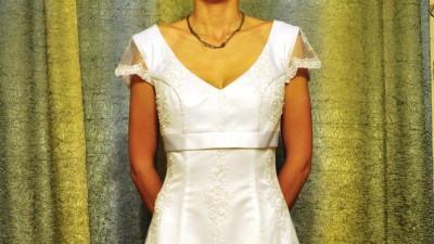 Suknia ślubna firmy Margarett model Perla NOWA biała