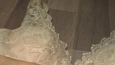 Suknia ślubna francuska koronka