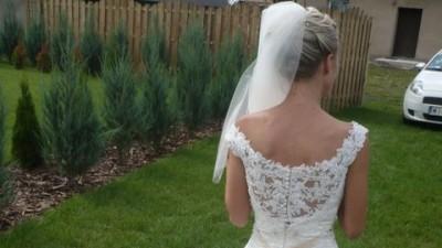 Suknia ślubna Herm's Delori, rozmiar 34/36, wzrost 158+korek