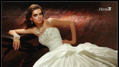 Suknia ślubna Herm's Ginette 36,38/168,174cm, kolor biała perła.