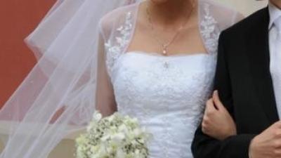 Suknia ślubna HERMS KELAZ - biała, rozm.38
