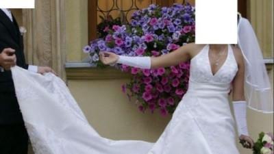 suknia ślubna jednoczęsciowa roz36/38