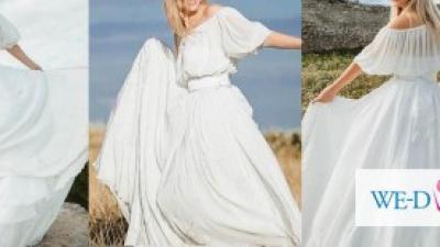 Suknia ślubna jedwabna -NIEPOWTARZALNA
