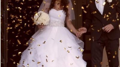 Suknia Ślubna Justin Alexander 8640 rozmiar 36 s biała cudowna