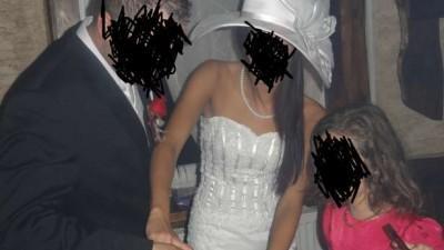Suknia ślubna+ kapelusz SYRENA/RYBKA stan idealny, roz. 36-38