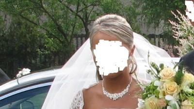 Suknia ślubna-kolor śmietany