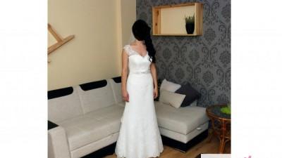 Suknia ślubna koronka GRACJA 36  tren