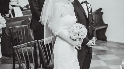 Suknia ślubna koronka syrena / A Papa Michel Jamaica GRATIS bolerko i welon