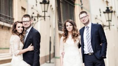 Suknia ślubna koronkowa transparentna M jak Sylwia Romaniuk
