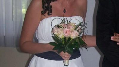 Suknia ślubna krótka 38 M kremowa