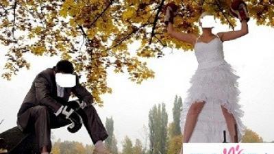 Suknia slubna krótki przód