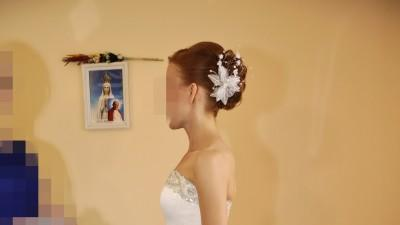 Suknia ślubna , Księżniczka , Princessa , Gorset , Zdobienia ,