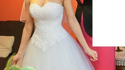 Suknia ślubna - księżniczka, prinessa 34, 36, 38