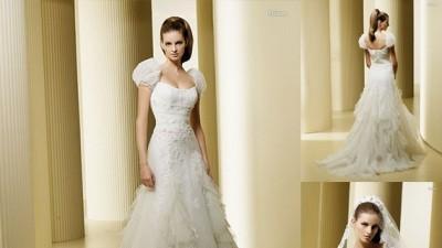 Suknia ślubna La Sposa Faisan - Suknia z kreszowanego tiulu, bardo zwiewna!