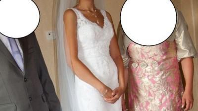 Suknia ślubna la sposa sonar 36 koronkowa