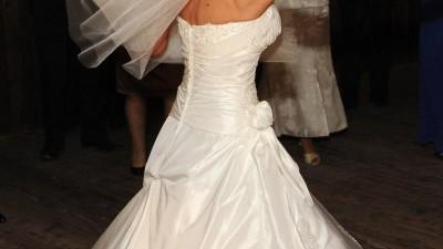 Suknia Ślubna MADONNA Tres Chic rozm. 34-36 z bolerkiem