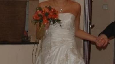 Suknia ślubna Madonna z kolekcji Herm's - Lequese