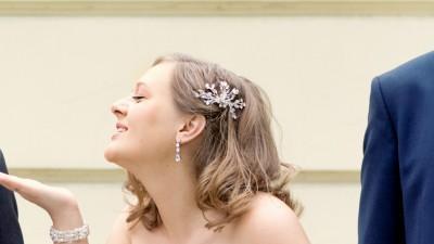 Suknia ślubna MARYLISE, Tango; rozmiar 42; jedwabna tafta, ecru