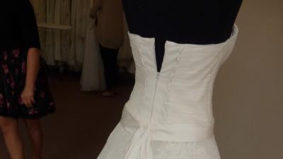 Suknia ślubna MAXIMA 1414 koronkowa jasne ecru