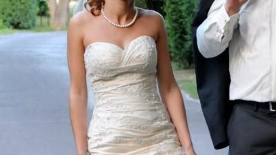 suknia ślubna model syrena ecru roz. 34/36