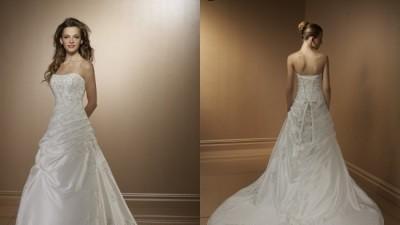 suknia slubna Mori Lee 2189, Biala/srebrna