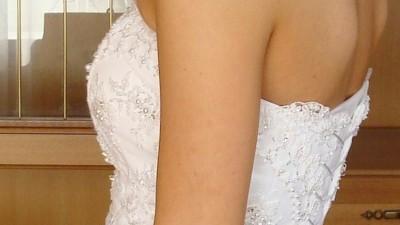 Suknia ślubna MS Moda, typ Paula, biała, rozmiar 36