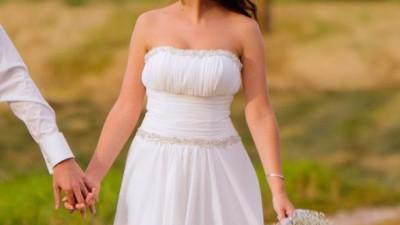 Suknia ślubna - muślinowa, zwiewna, romantyczna