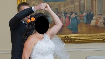 Suknia ślubna na jedno ramię!