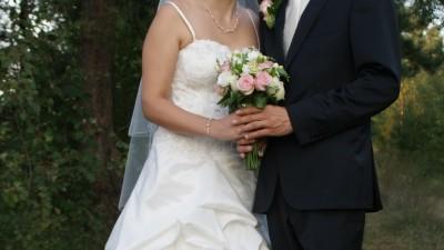 Suknia ślubna na kole z półhalką roz. 38 !!! Okolice Biłgoraja.