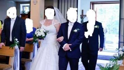 Suknia ślubna na wysoką :)