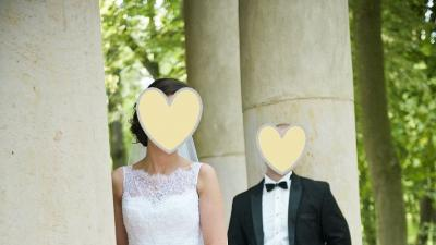 Suknia ślubna Nabla Melba (koronkowa, biała, tren)