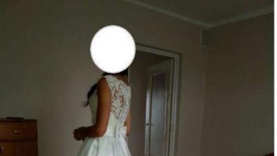 suknia ślubna, Nabla Monique, 36/38, z trenem