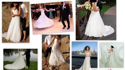 Suknia Ślubna NEW YORK MGNY Kryształki Swarovskiego! Przepiękny tren.