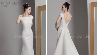 Suknia ślubna Novabella 17600 tren + welon (Italico Pronovias)