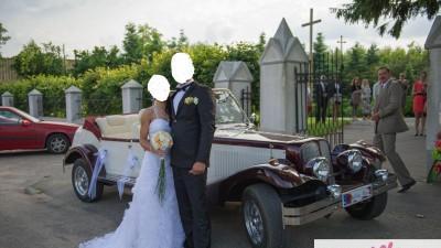 Suknia Ślubna odkryte plecy + toczek +narzutka