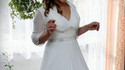 Suknia ślubna pliska