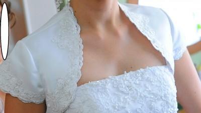 Suknia Ślubna Podkreślająca Sylwetkę