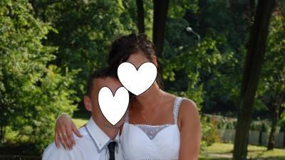 suknia ślubna,poprawiny, biała, długa rozm. 38