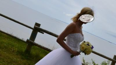 Suknia ślubna Princessa +halka+toczek+okrycie+buty- KOMPLET