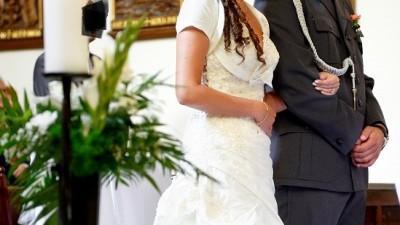 Suknia ślubna projektu Urszuli Mateja