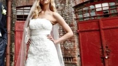 suknia ślubna PRONOVIAS- Nalon+ bolerko gratis