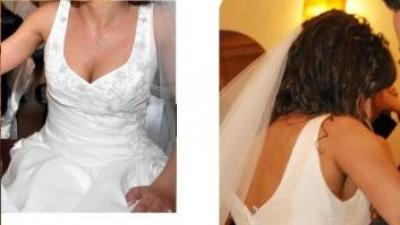 suknia ślubna r.36; fason A
