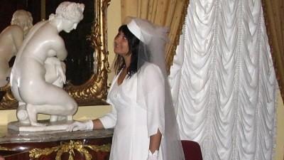 Suknia Slubna retro skromna