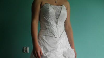 Suknia ślubna roz.38, biała, cyrkonie!!