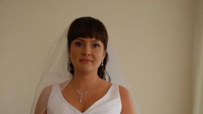 Suknia ślubna roz. 40, Model Lidia, biała, tafta kreszowana