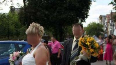 suknia ślubna -roz.44-46 w kolorze ecri