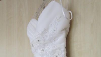 Suknia ślubna rozm. 34/36 biała z kryształkami + bolerko gratis