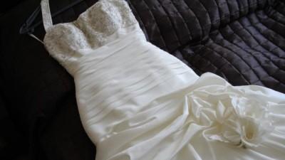 suknia ślubna rozm. 34/36 ecru marki Liliea