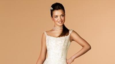 Suknia ślubna, rozm. 36, 160 cm, jasna ecru